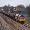 60071 leaves West Drayton with 6E38 Colnbrook - Lindsey refinery with empty tanks<br /> <br /> 16 March 2012