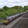 66011 passing Purley on Thames with 6E55 Theale - Lindsey refinery empty tanks<br /> <br /> 11  May 2012