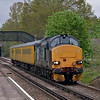 37423 cruises through Bagshot with 1Q14 test train on a run to Aldershot before returning to Derby RTC later in the day via Ascot and Reading<br /> <br /> 4 May 2012