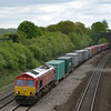 66097 rolls through Purley on Thames with 4M66 Southamton to Birch Coppice<br /> <br /> 11  May 2012