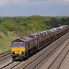 66060 passing Shottesbrook with loaded car carriers<br /> <br /> 8  May 2012