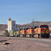 GM Thrash!!<br /> Throbbing power as this 4 loco lash up powers up the grade out of Kingman AZ with a lengthy intermodal rake.<br /> Leading is ES44 No 7541 followed by C44 Nos.5101/4915 and SD40 No.1609<br /> <br /> 21 November 2012