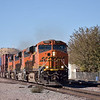 BNSF ES44 No 7901 leads a 4 loco lash up and double stack west  through Victorvillle CA<br /> <br /> 23 November 2012