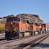 BNSF 7417 leading an eastbound double stack through Victorville CA<br /> <br /> 23 November 2012