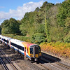 Forming the 09.50 from Poole 444021 races through the autumn colours at Pirbright<br /> <br /> 4 October 2012
