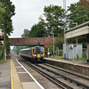 450090 halts at Wanborough with the 12.30 from Guildford - Ascot<br /> <br /> 9 October 2012