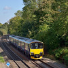 150002 takes the 12.07 from Reading down to Basingstoke, seen here near Silchester<br /> <br /> 10 October 2012