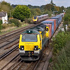 70019 thunders through Worting with 4O49 Basford Hall - Southampton Maritime freightliner<br /> <br /> 10 October 2012