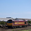 EWS liveried Class 60 No.60045 shunts the yard at Eastleigh<br /> <br /> 5 September 2012