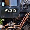 BR Standard 9F No 92212 stands in the sunshine at Alresford yard - albeit, minus tender!<br /> <br /> 5 September 2012