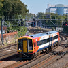 158888 heads for Salisbury with the 13.07 from Romsey via Southampton<br /> <br /> 7 September 2012