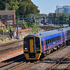 158952 draws away from Southampton Central with the 12.20 from Portsmouth - Cardiff Central<br /> <br /> 7 September 2012