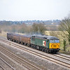 DCR 56303 hauls 3 JRA boxes through Lower Basildon as 6Z56  from Chaddesden Sidings - Eastleigh<br /> <br /> 8 April 2013