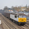 56091 thunders through Oxford station with the 1053 Calvert to Didcot Power Station fly ash empties<br /> <br /> 8 April 2013