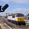56091 has deposited its load of hoppers in the power station and now runs round into Didcot yard<br /> <br /> 15 April 2013