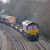66172 is at the head of the 1210 Didcot T.C. to Bicester C.O.D. as it approaches Oxford<br /> <br /> 8 April 2013