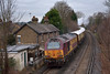 Class 67 No.67011 brings up the rear of The British Pullman as it passes Egham<br /> <br /> 13 December 2013