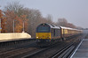 67005 'Queens Messenger' + 67011 drone through Hersham with 1Z33 VSOE Christmas special from Victoria - Salisbury for Carols at Salisbury Cathedral<br /> <br /> 12 December 2013