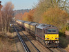 67005 'Queens Messenger' passes St Johns Way Chertsey at the  head of 5O61 ECS movement from Wembley Yd - Eastleigh <br /> <br /> 9 December 2013