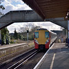 458011 arrives at Bagshot with 2N40 the 13:00 Guildford to Ascot service<br /> <br /> 5 February 2013