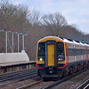 159016 races down the SWML with the 10:20 London Waterloo to Exeter St Davids<br /> <br /> 5 February 2013