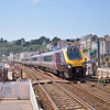 Class 220 Voyager 220025 drones into Dawlish with 1M49 the  09.40 from Penzance to Manchester Piccadilly<br /> <br /> 8 July 2013