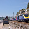 Class 43 Power Car 43136 accelerates away from Dawlish with 1A82 the 11.06 from Paignton to  Paddington<br /> <br /> 8 July 2013