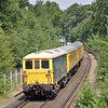 73201 'Broadlands' brings up the rear of test train 1Q31 as it passes Oxshott on a return working to Hither Green<br /> <br /> 12 July 2013