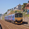 150123 forms 2F25  the 1123 Paignton to Exmouth service. <br /> Seen here departing from Dawlish<br /> <br /> 8 July 2013