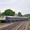 HST power car 43025 races through Taplow with 1A82 1106 Paignton to London Paddington<br /> <br /> 10 June 2013