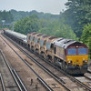 66188 has charge of 6O26 engineers train from Hinksey Yd - Eastleigh as it passes Worting Junction<br /> <br /> 19 June 2013