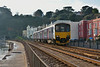 Sprinter 150122 has emerged from Kennaway Tunnel Dawlish with  2F29  the 12.13 from Paignton to Exmouth<br /> <br /> 28 November 2013