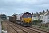66081 passing Starcross with three empty wagons believed to be a St Blazey - Exeter Riverside trip working.<br /> <br /> 29 November 2013