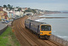 A dull November day at Dawlish sees 143617  passing with 2T15 the 11.23 service from Exmouth to Paignton<br /> <br /> 26 November 2013