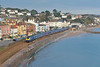 'Blue day - Blue Train'<br /> A First Great Western HST passes Dawlish with 1C77 the 10.06 from London Paddington to Penzance<br /> <br /> 28 November 2013