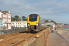 XC Voyager passes a very quiet Dawlish with 1V47 08.07 Manchester Piccadilly to Paignton<br /> <br /> 28 November 2013