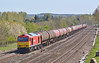 Smart looking DBS 60063  heads west through Lower  Basildon with 6B33 Theale Murco to Robeston oil tanks  15 April 2014