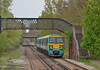 Seen approaching Bagshot, 456009/456005 form 2N33  the 13.23  from Ascot to Guildford  23 April 2014