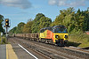 Colas 70804 brings a long train of CWR through West Byfleet as  6Y41  from Eastleigh East Yard to Hoo Junction Up Yard.<br /> <br /> 21 August 2014