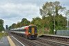 159101 leads through West Byfleet with 1L30  the 09.18  from Gillingham (Dorset) to Waterloo<br /> <br /> 28 August 2014