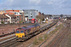 66007 passes Campbell Road Eastleigh with 4O53  intermodal from  Wakefield Europort to Southampton W Docks Berth 109<br /> <br /> 27 February 2014