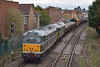 31190 + 31452  bring up the rear of 6Z31 through Egham as they return to Newark from Totton hauled by 56312 <br /> <br /> 28 February 2014