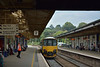 150122 halts at Newton Abbot with 2P80  the 12.52 service from Exeter St Davids to Plymouth<br /> <br /> 19 July 2014