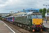 57604 'Pendennis Castle'  restarts 2E75  from Newton Abbot forming  the 1125 summer relief service from Par to Exeter St Davids<br /> <br /> 19 July 2014