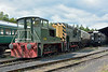 Yorkshire 0-6-0 diesel shunter, 2745 and  09 010 (D3721)<br /> Buckfastleigh, South Devon Railway<br /> <br /> 22 July 2014
