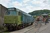 D402 50 002 'Superb'<br /> undergoing renovation at Buckfastleigh, South Devon Railway<br /> <br /> 22 July 2014