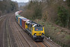 70020 is at the head of 4O51 Wentloog - Southampton freightliner as it nears Tilehurst.<br /> <br /> 4 March 2014