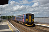 153318  is paired with Class 143 No.143620 to form 2T21 the 15.24 service from  Exmouth to Paignton as it draws to a halt at Starcross<br /> <br /> 3  August 2016