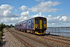 Sprinter 150243 runs alongside the River Exe at Starcross forming 2T23 16.43 from St James' Park to Paignton<br /> <br /> 4 August 2016