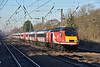 Virgin HST power car No. 43307  is lead traction for 1E09 09.30 service from  Edinburgh to London Kings Cross, seen passing Welham Green<br /> <br /> 29 December 2016